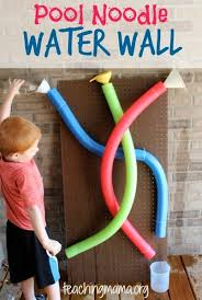 easy and affordable summer diy projects for kids pool noodle wall