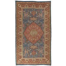 rare antique double sided angora oushak rug for