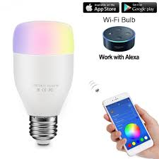 smartphone controlled lighting. Smart Led Bulb Rgbw E27 6w Wifi Remote Controlled Dimmable Music Sync/Adjust Light Brightness Color Changing For Android Ios Smartphone Lighting