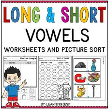 40+ pdf advanced printable phonics worksheets with practice phonics words. Long And Short Vowel Worksheets Teachers Pay Teachers