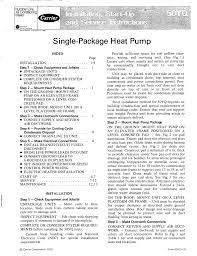 Carrier 50yq Heat Pump User Manual Manualzz Com