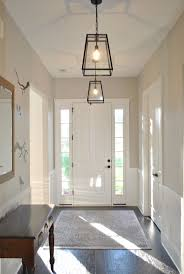 lighting for hallway. clean wide and white hallway with ballard designs eldridge pendant lighting for
