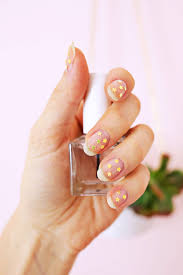 Gold Star Manicure DIY A Beautiful Mess Bloglovin