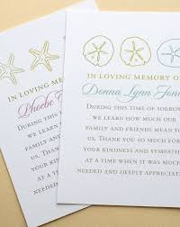 Personalized Sympathy Thank You Cards Funeral Thank You Cards With Starfishes Or Sand Dollars Personalized