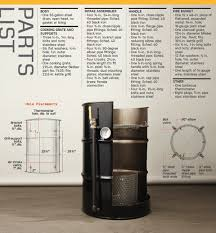 55 Gallon Drum Inches To Gallons Chart Build Your Own Smoker From A 55 Gallon Drum