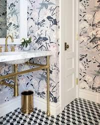 Bathroom wallpaper ...