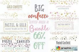 Confetti Brush Photoshop Confetti Scatter Brush Bundle Free Download Vector Stock