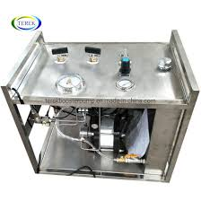 Portable Air Driven Booster Pump With Round Paper Chart Recorder Hydro Test Unit