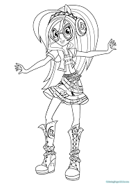 equestria s rainbow rocks coloring pages