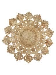 extra large round jute rug seren decorative rustic boho designer 150cm