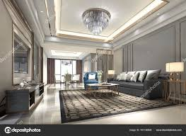 Rendering Holz Luxus Und Moderne Wohnzimmer Und Esszimmer