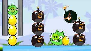 Angry Birds Bomb 2 - SAVE THE GOLDEN EGG AND KICK OUT BAD PIGGIES! - YouTube
