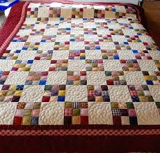 Scrappy Quilt Patterns Delectable Country Nine Patch Scrap Quilt Pattern Six Patch Quilt Patterns