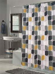 black yellow and grey curtain for shower
