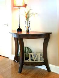 round entry table half hallway perfect for small walkways standard dimensions