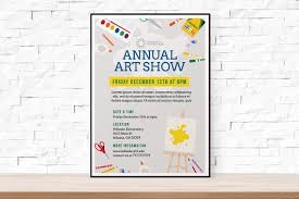 Flyer Samples For An Event Mesmerizing DIY Printable School Art Show Flyer Template Word Flyer Etsy