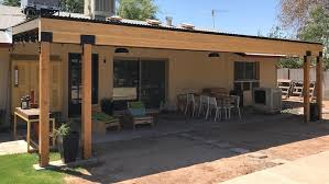 diy building a covered patio with the