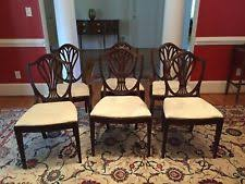 hepplewhite shield back gany dining room chairs