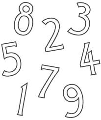 Numeri Sottili Da Colorare Online Gratis Per Bimbo Disegni Da