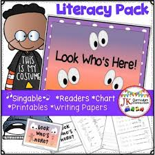 Whos Here Today Chart Halloween Song Look Whos Here Literacy Pack