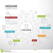 vector original mini st cv resume template stock vector vector original mini st cv resume template