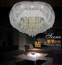 new flush mount big crystal chandelier lighting fixtures led lamp living room lightsmodern design crystal lights