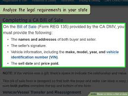 Copy Bill Of Sale 3 Ways To Write A Bill Of Sale Wikihow