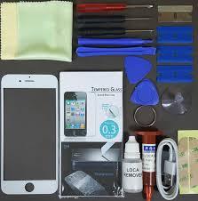 iphone repair kit. apple iphone 6 replacement screen front glass repair kit white iphone i