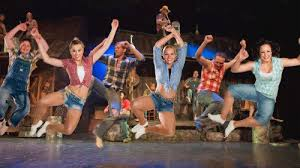 southern food served at the hatfield and mccoy dinner show show item 5 of 5 dancers jumping in the air onse