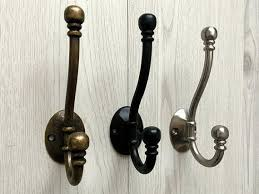 Brushed Nickel Coat Rack Black Wall Hooks Wall Hook Double Hooks Antique Bronze Brushed 94