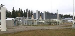 natural gas compressor station. a compressor station natural gas s
