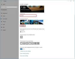 customize the Lock screen on Windows 10 ...
