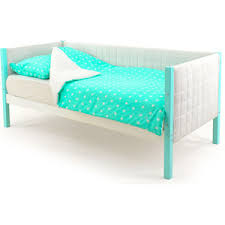 Купить Детская <b>кровать</b>-<b>тахта Бельмарко Skogen мятно</b>-белый ...
