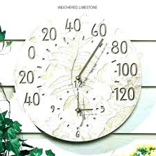 large outdoor clock garden and thermometer clocks thermometers fossil sumac digital u outside thermom large outdoor clock clocks and thermometer