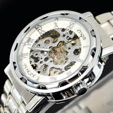 classic luxury men watch automatic mechanical watch in r 10pcs classic luxury men watch automatic mechanical watch in r numerals silver wrist watch 0663