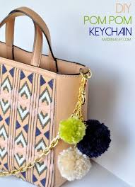 pompom keychain cool crafts for teens diy projects for teens