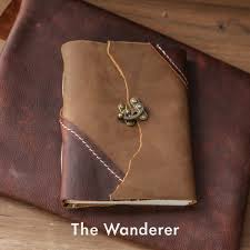 the wanderer leather journal by trekker leather co