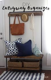 Diy Entryway Bench With Coat Rack Best DIY Entryway Organizer Wood And Pipe Entryway Stand Upcycles