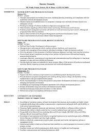 Software Program Manager Resume Samples Velvet Jobs