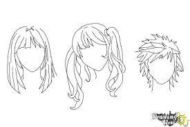 How To Draw Manga Hair Drawingnow