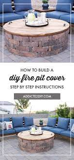 how to build a diy fire pit cover