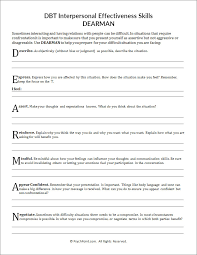 DBT Interpersonal Effectiveness Skills DEARMAN Worksheet | PsychPoint