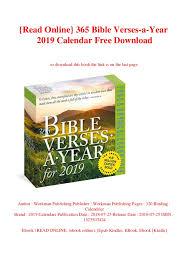 Read Online 365 Bible Verses A Year 2019 Calendar Free Download