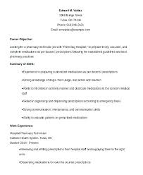 Pharmacy Technician Resume Examples Fascinating Resume For Pharmacy Technician Sample Resume Pharmacist Manager Of