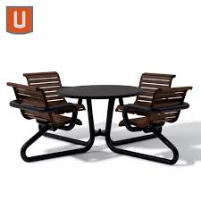 camden collection 42 round table solid top with attached seats portable surface mount loading zoom