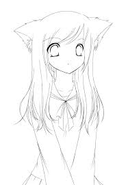 Cute Girl Coloring Pages Cute Girl Coloring Pages With Anime