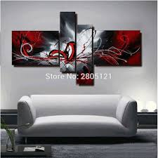 black white red canvas wall art