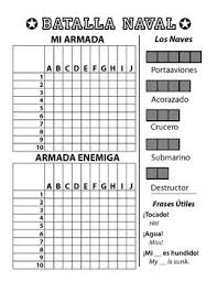 Batalla Naval - Spanish Battleship Game - Letters & Numbers   Tpt