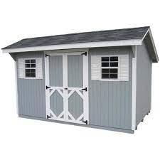 16 ft wood storage building diy kit