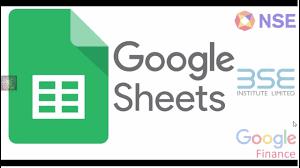 Nse Live Chart Google Google Finance Formula In Google Sheets Import Nse Bse Data Telugu